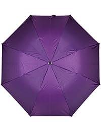 "Fendo Yardley 2 Fold Auto Open 21"" (532 mm) Men/Women UV Protection Monsoon/Rainy & Sun Umbrella in Violet"