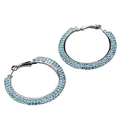 Mitlfuny Weihnachten Home TüR Dekoration, Luxus Runde Diamant Ohrringe Frauen Silber Gold Rosegold Glitter STU