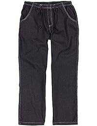 Jeans de jogging noir by Abraxas grandes tailles jusqu'au 12XL, Taille:3XL