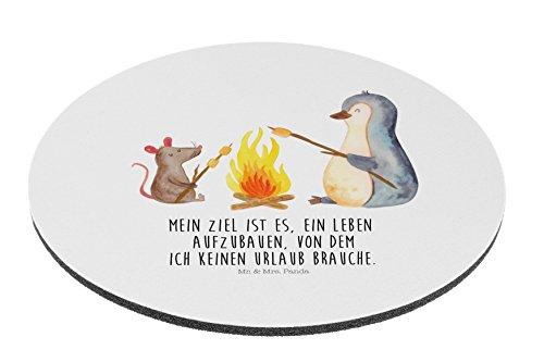 Preisvergleich Produktbild Mr. & Mrs. Panda Mauspad rund Pinguin Lagerfeuer - 100% handmade in Norddeutschland - Pinguin, Maus, Pinguine, Lagerfeuer, Leben, Arbeit, Job, Motivation, Büro, Büroalltag, Lebensspruch, Lebensmotivation, Neustart, Liebe, grillen, Feuer, Marshmallows Mouse Pad rund, Mousepad, Computer, PC, Kreis, Mauspad, Maus, Geschenk, Druck, Schenken, Motiv, Arbeitszimmer, Arbeit, Büro
