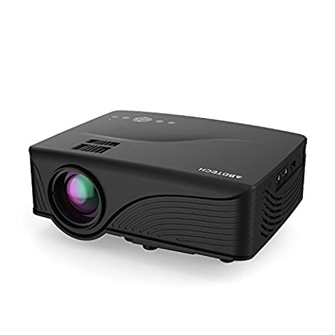 Abdtech 1200 Lumens Mini LED Multimedia Home Theater Projector -