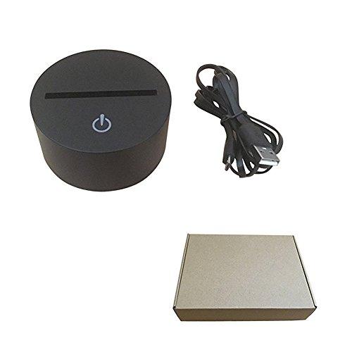 Lampe 3D ILLUSION Lichter der Nacht, kingcoo 7Farben LED Acryl Licht 3D Creative Berührungsschalter Stereo Visual Atmosphäre Schreibtischlampe Tisch-, Geschenk für Weihnachten, Kunststoff, Avion 0.50 wattsW - 8