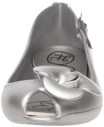 Raton Fanny Metallic 1, Ballerines femme Argent (Silver)