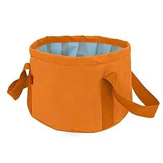 Zhangcaiyun Waschbecken Portable faltendes Waschbeckenwaschbecken des Porteis 10L des Geschäftsreisetourismus im Freien. Wasserbecken (Farbe : Orange)