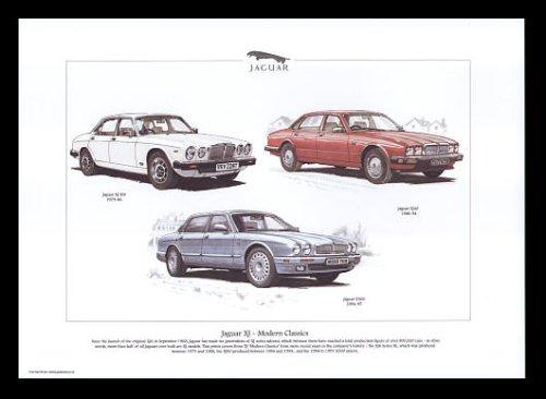 Jaguar XJ Modern Classic Cars-XJ S3, XJ40, X300-Kunstdruck Siii-serie