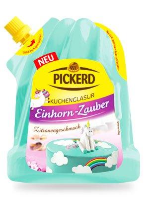 """Kuchenglasur """"EINHORN - ZAUBER"""" (türkis / 125 g) ZITRONEN - GESCHMACK"""