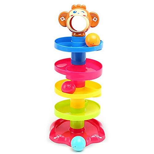 QHWJ Pädagogische Spielwaren der Kinder, anziehender Ball des Babyrollballspielers, der die Schicht stapelturmglockenballaufklärungsspielzeug stapelt