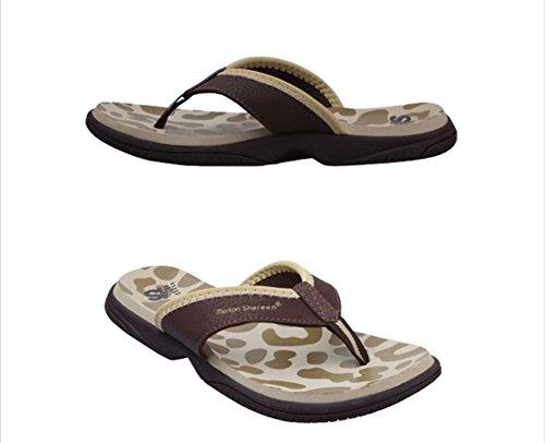 Flip-folps Happy Lily ergonomique antidérapant Semelle Chaussures de piscine Y String Sandales à bout ouvert pour l'intérieur ou extérieur Chaussures décontracté Chaussures Chaussons pour femme Bordeaux