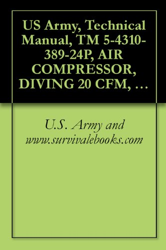 US Army, Technical Manual, TM 5-4310-389-24P, AIR COMPRESSOR, DIVING 20  CFM, MOD K-20, 5,000 PSI, (NSN 4310-01-291-8028), military manauals,  special