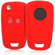 kwmobile Funda de Silicona para Llave Plegable de 2 Botones para Coche Opel - Carcasa Protectora