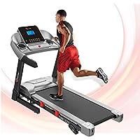 PowerMax Fitness Unisex Adult TAM-225 Ac Motorized Treadmill With Mp3 & Ipad Holder - Black/Grey, General-Foldable