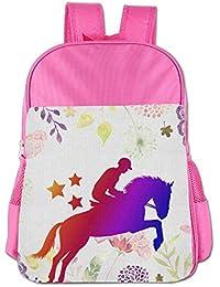 Mochilas Divertidas para niños y niñas, diseño de Caballo arcoíris