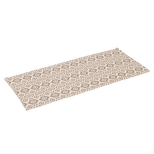 Alfombra de pie de cama étnica beige de algodón / poliésterpara dormitorio 70 x 160 cm Arabia - Lola Derek