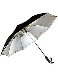 KC Paul & Sons Polyester, Nylon, Polycarbonate, Synthetic & Metal Umbrella (Black_UmbrellaKC4R)