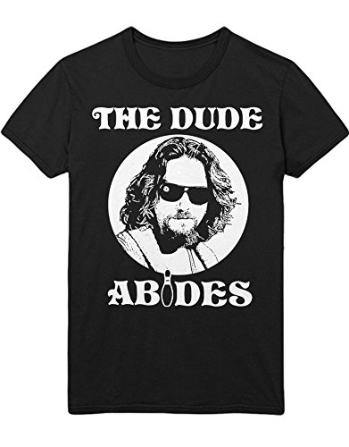 T-Shirt The Big Lebowski The Dude Abides C000006 Schwarz XL -