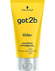 Schwarzkopf Got2b Kleber Wasserfestes Styling Gel, 3er Pack (3 x 150 ml)