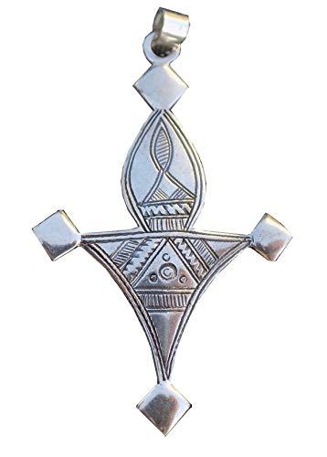 "Agadez\""Bagzan\"" Massiv 925 Silber gestempelt mit Lederband TOU11(4)"
