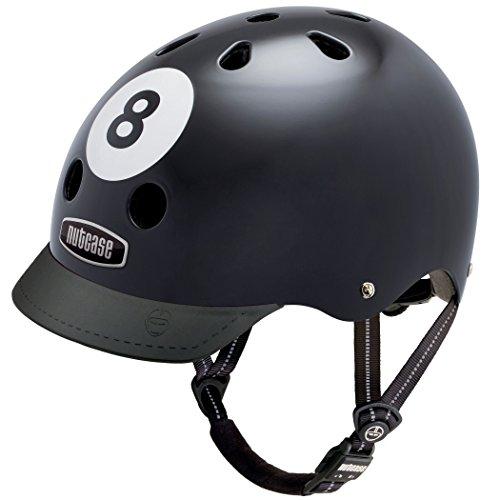 Nutcase Gen3 Bike und Skate Helm, 8 Ball, S, NTG3-2001