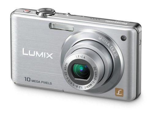 Panasonic Lumix DMC-FS7 Digitalkamera (10 Megapixel, 4-fach opt. Zoom, 6,9 cm (2,7 Zoll) Display, Bildstabilisator) silber