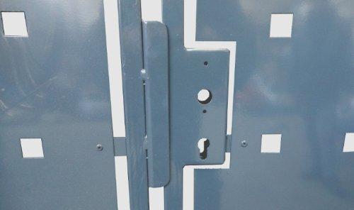 Hochwertiges 2-flügeliges Tor / Grau Pulver-beschichtet / Tor-Einbau-Breite: 350 cm - Tor-Einbau-Höhe: 180 cm - Inklusive 2 Pfosten (60mm x 60mm) / Einfahrtstor Gartentor Hoftor