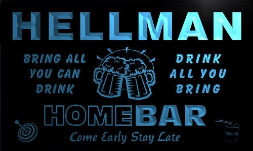 q19642-b-hellman-family-name-home-bar-beer-mug-cheers-neon-light-sign