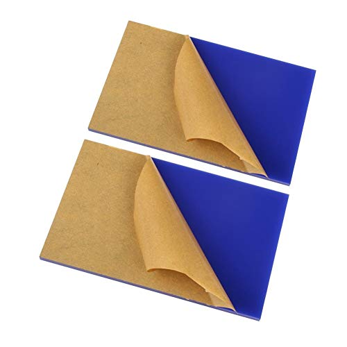 LZYCYF Blau Acrylglasplatte Kunststoffrohstoffe Polycarbonat Uv Platte 2pc- 250x250x4mm