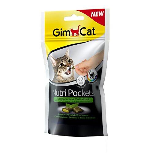 GimCat Nutri Pockets Katzenminze + Multi Vitamin, 3er Pack (3 x 60 g)