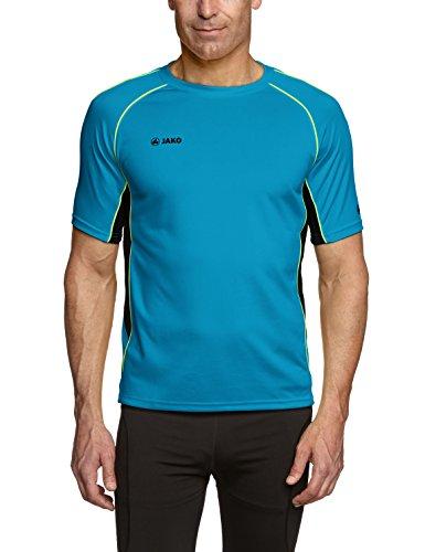 Jako Herren T-Shirt Attack 2.0, Türkis/Marine/Lemon, L, 6172-60