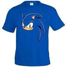 d264bbd89 Mx Games Camiseta Sonic Face art color azul manga corta (Talla  9-10