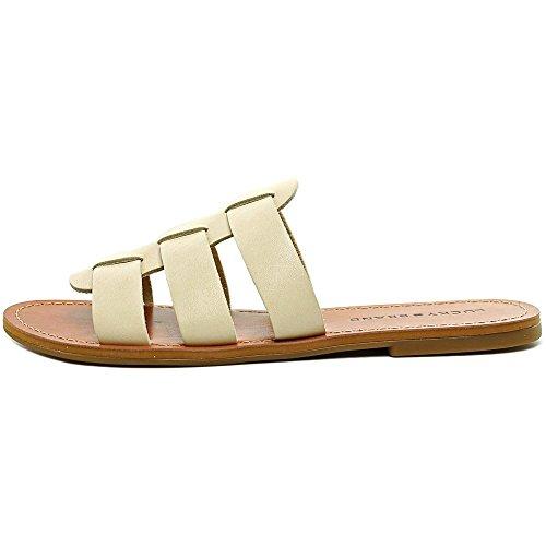 Lucky Brand Aisha Leder Sandale Ivory