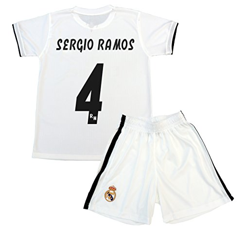 Box 1º Equipo Sergio Ramos Real Madrid JR 2018-2019 Conjunto Niño (T/10)