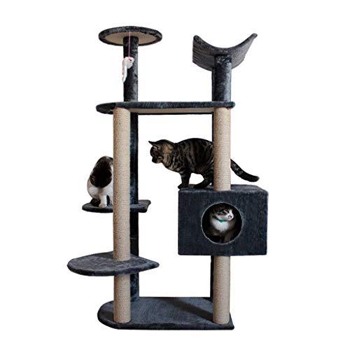 Pet Cuisine Albero Tiragraffi, Torre for Gatti Stabile/Mobili da condominio multilivello for Alberi di Gatto/con tiragraffi ricoperti di sisal/for Gatti di Peso Inferiore a 11 kg (Color : Gray)