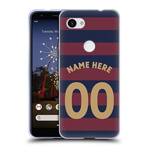 Head Case Designs Personalisierte Individuelle Newcastle United FC NUFC Away Kit 2018/19 Crest Soft Gel Huelle kompatibel mit Google Pixel 3a -