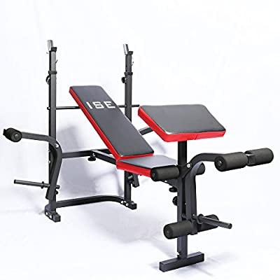 ISE Adjustable Weight Lifting Bench Multi-Functional Folding Home Gym Weight Bench SY-5430B by ISE