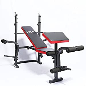 ISE Adjustable Weight Lifting Bench Multi-Functional Folding Home Gym Weight Bench SY-5430B