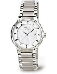 Boccia  B3228-01 - Reloj de cuarzo para mujer, con correa de titanio, color plateado
