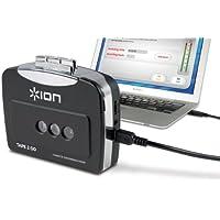 ION Audio Tape 2 Go - Reproductor de cassettes portátil y conversor digital para PC y Mac