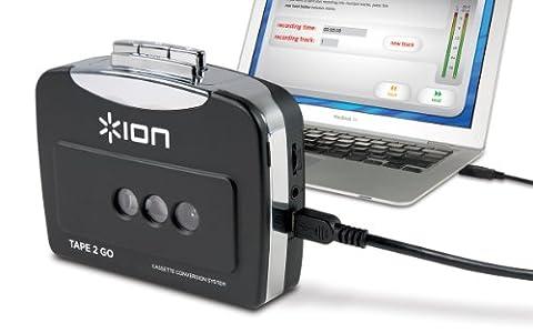 ION Audio Tape 2 Go Baladeur cassette et convertisseur au format MP3 avec logiciel Mac et PC fourni