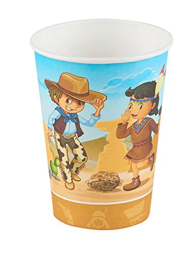 DYNASTRIB Cow Boy Gobelets 2037037 Multicolore, 25 CL