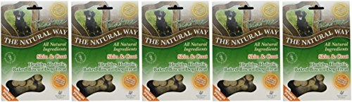 Natural Way Skin & Coat Dog Biscuits, Small Bone Natural Treats 300 g (Pack of 5) 2