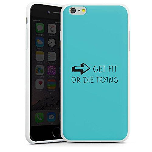 Apple iPhone X Silikon Hülle Case Schutzhülle Fitness Workout Motivation Silikon Case weiß