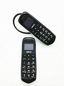 Mini téléphone J8 Smart Noir 3 en 1, téléphone oreillette