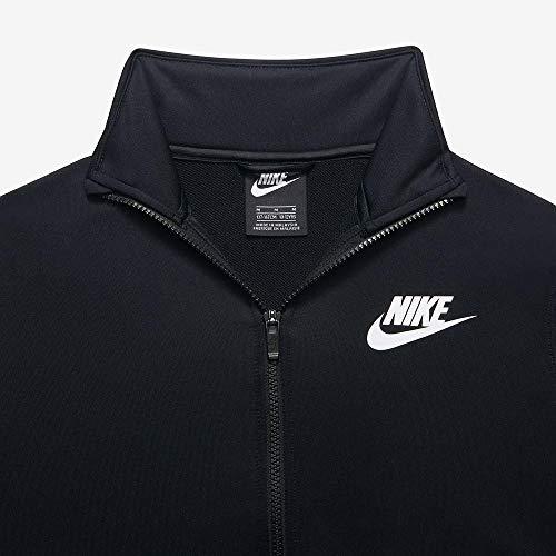 Nike Jungen B NSW Poly Tracksuit, Black/White, L