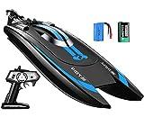 Top Race Remote Control Schnellboot für Umfragen und Seen - 25 km / h Höchstgeschwindigkeit - Einzigartige bürstenlose Motoren für Höchstgeschwindigkeit und Agilität