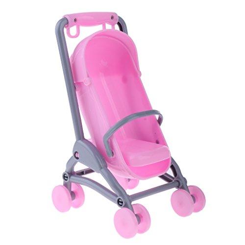 Gazechimp Miniatur Sportwagen Buggy Kinderwagen Babyschale - Puppenzubehör für Barbie Kleine Schwester Kelly Puppe