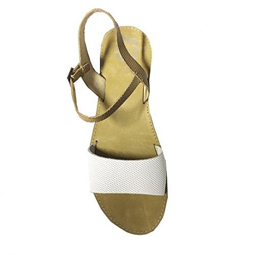 Sandales Vaquetilla Natural Blanco e16 - Porronet Blanc