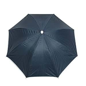 sourcingmap Parapluie pliant Chapeau 70 cm Diamètre en Polyester Bleu acier pour la pêche