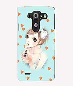 For LG G3 Mini -Livingfill- Anime girl with lipstick Printed Designer Slim Light Weight Cover Case For LG G3 Mini (A Beautiful One of the Best Design with a Classic Theme & A Stylish, Trendy and Premium Appeal/Quality) (Red & Green & Black & Yellow & Other)