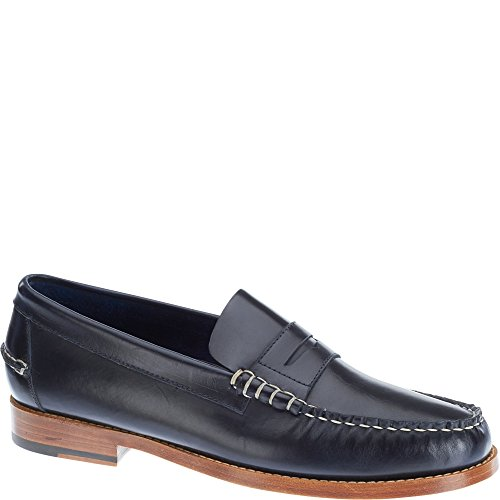 Sebago Chaussures bateau Slip boeuf Rouleau Penny Moc Noir Noir B70767 Navy