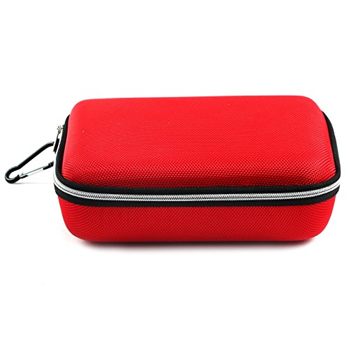 Store2508 Multipurpose EVA Case Storage Box for Cosmetics, Toiletries, Jewellery, Makeup, Stationary, Gadgets, Craft Object, Cables, Chargers, Earphones (19 x 14 x 6 Cm) (Red)